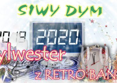 SYLWESTER RETRO BAND SIWY DYM. Celejów. Kazimierz Dolny. Bal Sylwestrowy. Zabawa, impreza.